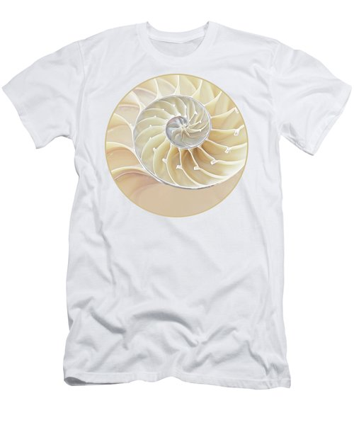 Nautilus Natural Cream Spiral Men's T-Shirt (Athletic Fit)