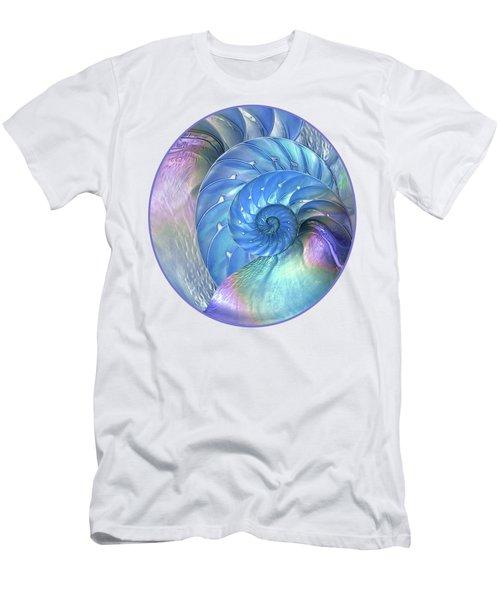Nautilus Shells Blue And Purple Men's T-Shirt (Athletic Fit)