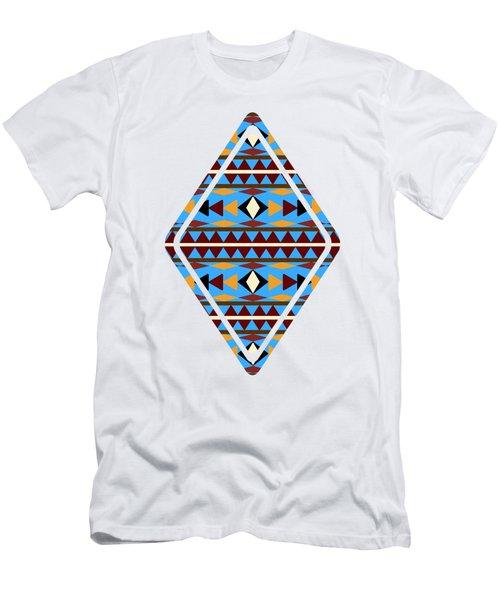 Navajo Blue Pattern Art Men's T-Shirt (Slim Fit)