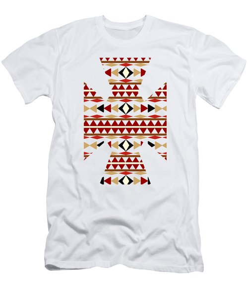 Navajo White Pattern Art Men's T-Shirt (Slim Fit) by Christina Rollo