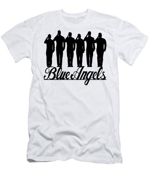 Navy Blue Angels Men's T-Shirt (Athletic Fit)