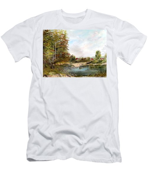 Near The Pond Men's T-Shirt (Athletic Fit)