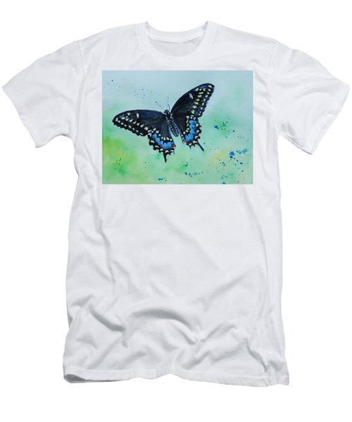 Neon Swallowtail Men's T-Shirt (Athletic Fit)