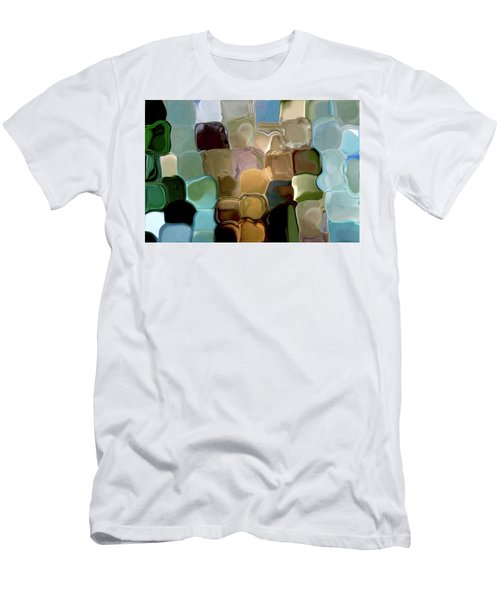Neutrals In Light Abstract Men's T-Shirt (Slim Fit) by Haleh Mahbod