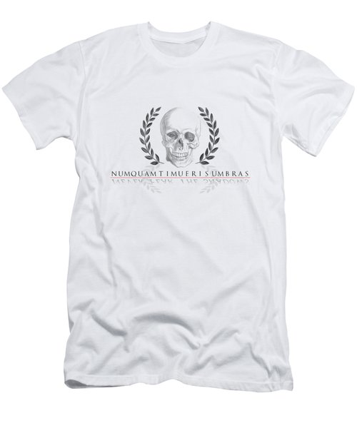 Never Fear The Shadows Stoic Skull With Laurels Men's T-Shirt (Athletic Fit)