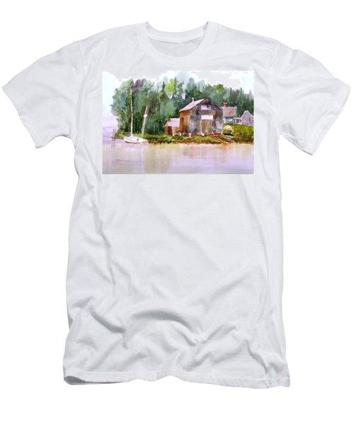 New England Boat Repair Men's T-Shirt (Athletic Fit)