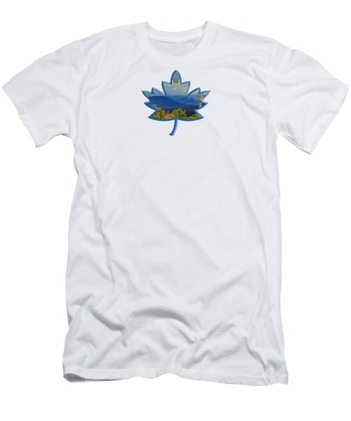 New Hampshire Maple Leaf Design Men's T-Shirt (Athletic Fit)
