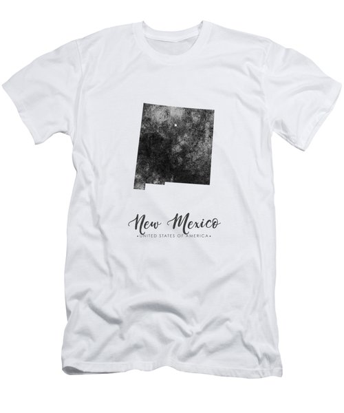New Mexico State Map Art - Grunge Silhouette Men's T-Shirt (Athletic Fit)