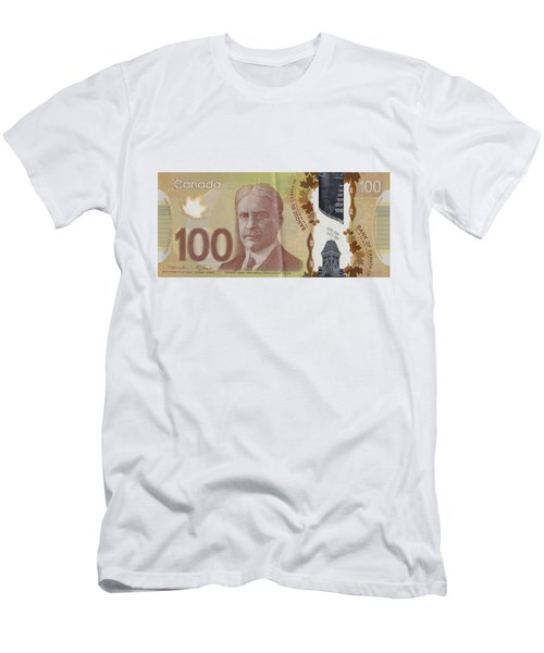 New One Hundred Canadian Dollar Bill Men's T-Shirt (Athletic Fit)