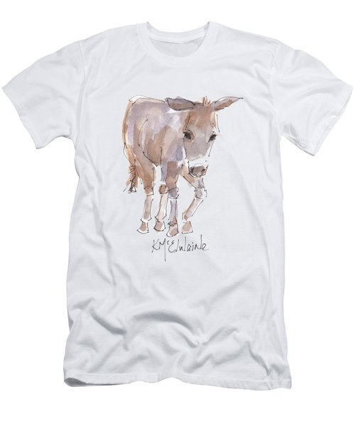 New Pasture Boss Men's T-Shirt (Slim Fit) by Kathleen McElwaine