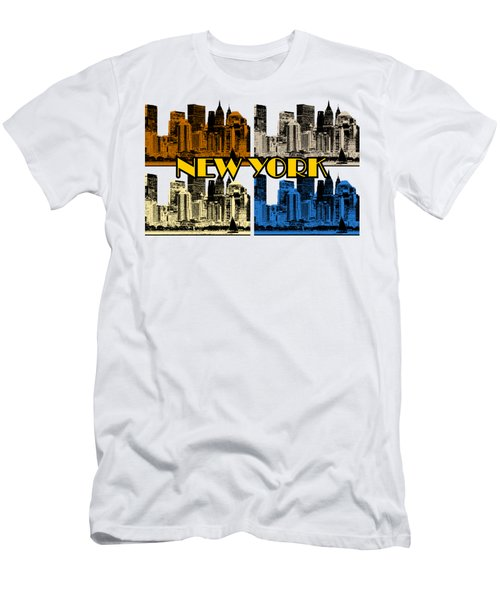 New York 4 Color Men's T-Shirt (Athletic Fit)