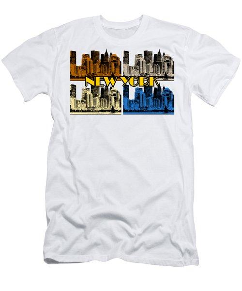 New York 4 Color Men's T-Shirt (Athletic Fit)