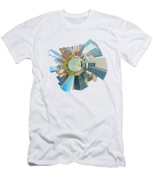New York Circle Men's T-Shirt (Athletic Fit)