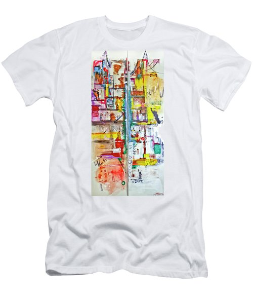 New York City Icons And Symbols Men's T-Shirt (Athletic Fit)