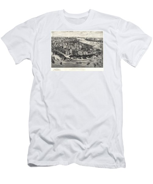 New York City Manhattan 1905 Men's T-Shirt (Athletic Fit)