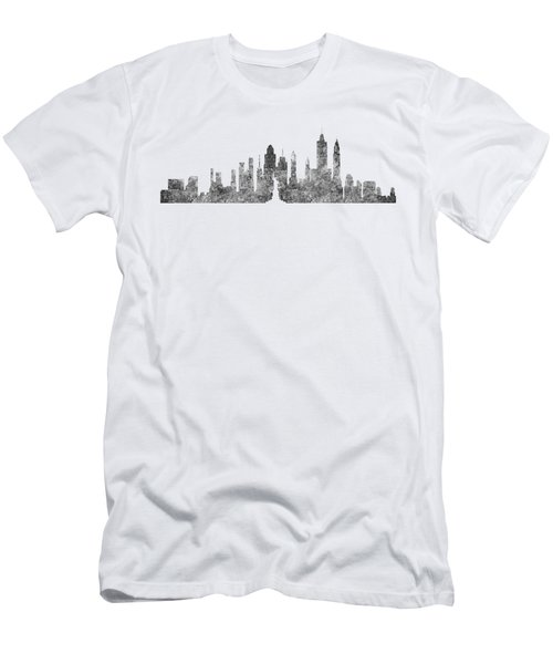 New York City Skyline B/w Men's T-Shirt (Athletic Fit)