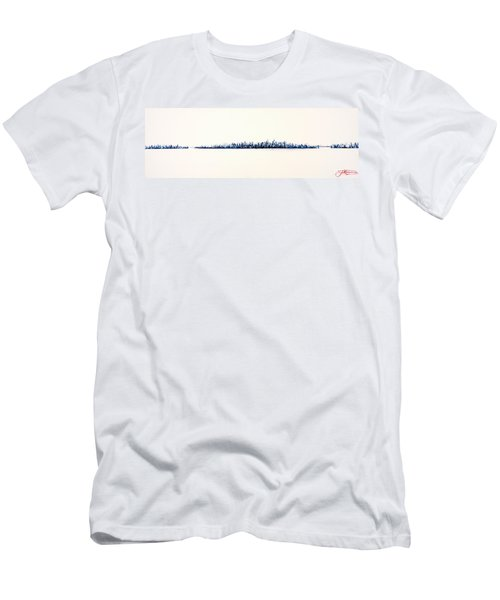 New York City Skyline Men's T-Shirt (Slim Fit)