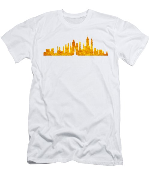 New York, Golden City Men's T-Shirt (Athletic Fit)