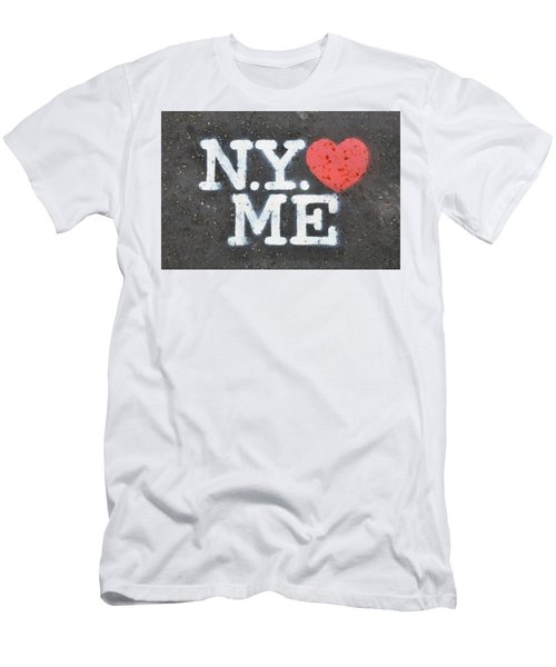 New York Loves Me Stencil Men's T-Shirt (Athletic Fit)
