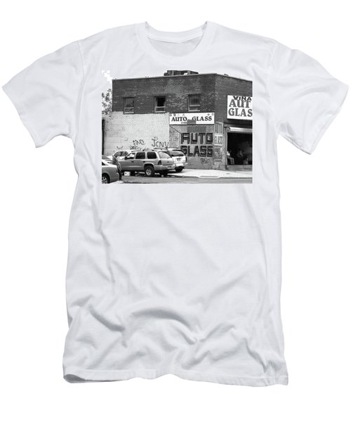 Men's T-Shirt (Slim Fit) featuring the photograph New York Street Photography 70 by Frank Romeo