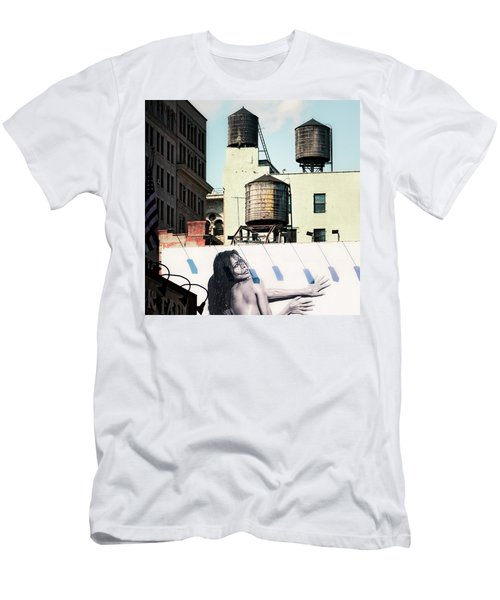 New York Water Towers 15 Men's T-Shirt (Athletic Fit)