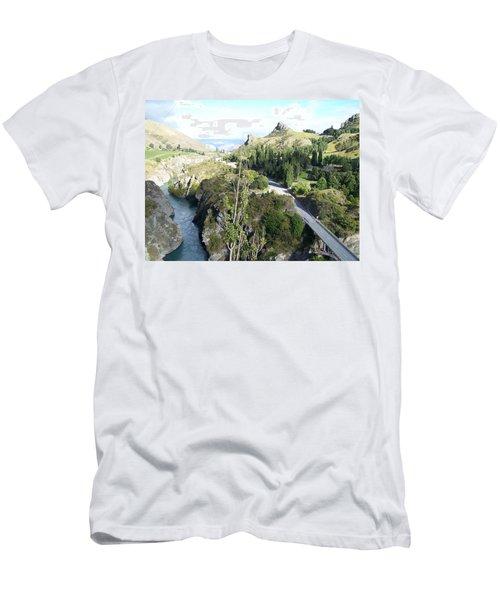 New Zealand Scene Men's T-Shirt (Slim Fit) by Constance DRESCHER
