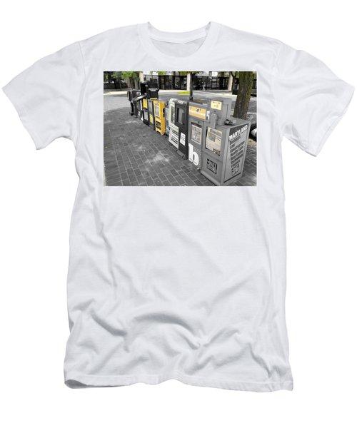 Newspaper Boxes Men's T-Shirt (Athletic Fit)