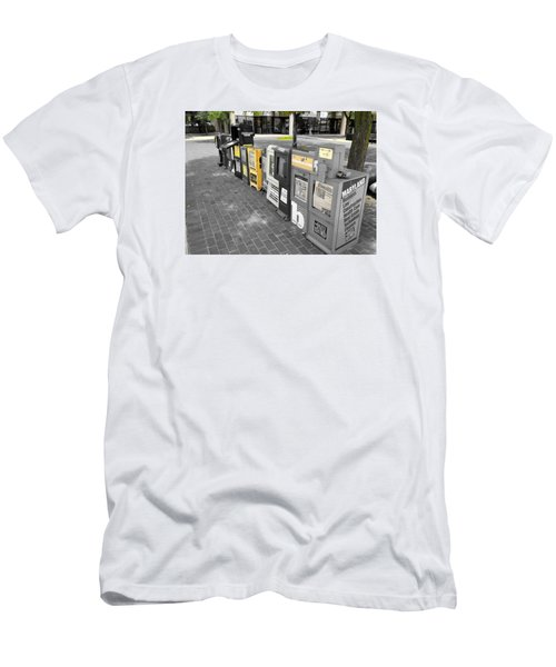 Newspaper Boxes Men's T-Shirt (Athletic Fit)