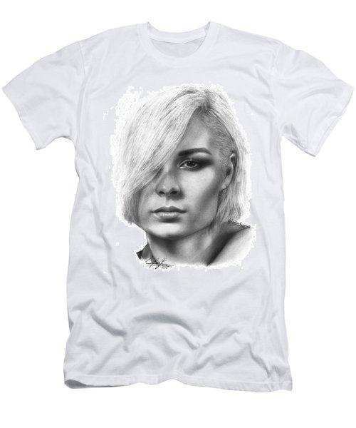 Nina Nesbitt Drawing By Sofia Furniel Men's T-Shirt (Slim Fit) by Jul V