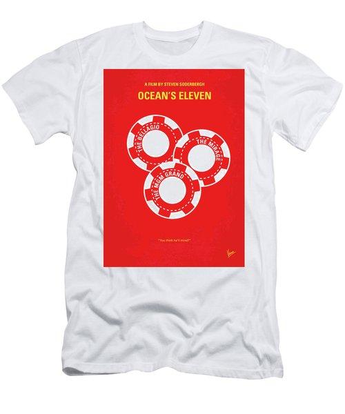 No056 My Oceans 11 Minimal Movie Poster Men's T-Shirt (Athletic Fit)