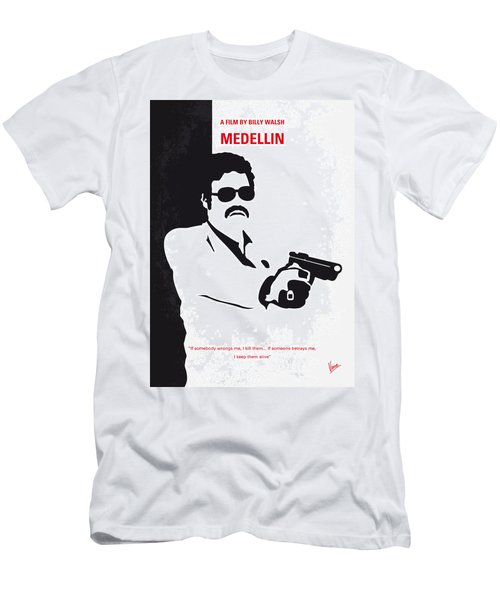 No526 My Medellin Minimal Movie Poster Men's T-Shirt (Athletic Fit)