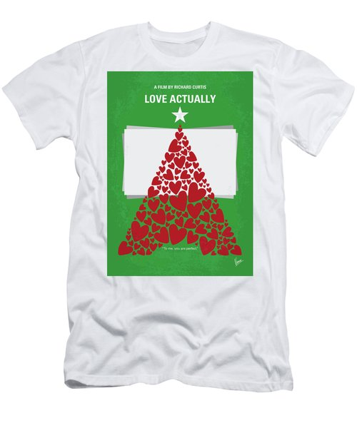 No701 My Love Actually Minimal Movie Poster Men's T-Shirt (Athletic Fit)