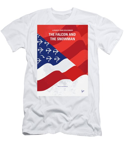Men's T-Shirt (Slim Fit) featuring the digital art No749 My The Falcon And The Snowman Minimal Movie Poster by Chungkong Art
