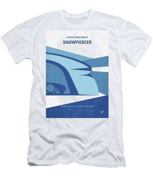 Men's T-Shirt (Slim Fit) featuring the digital art No767 My Snowpiercer Minimal Movie Poster by Chungkong Art