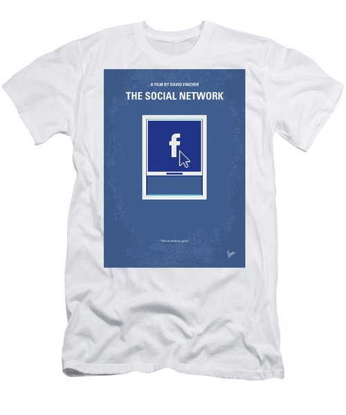 No779 My The Social Network Minimal Movie Poster Men's T-Shirt (Athletic Fit)