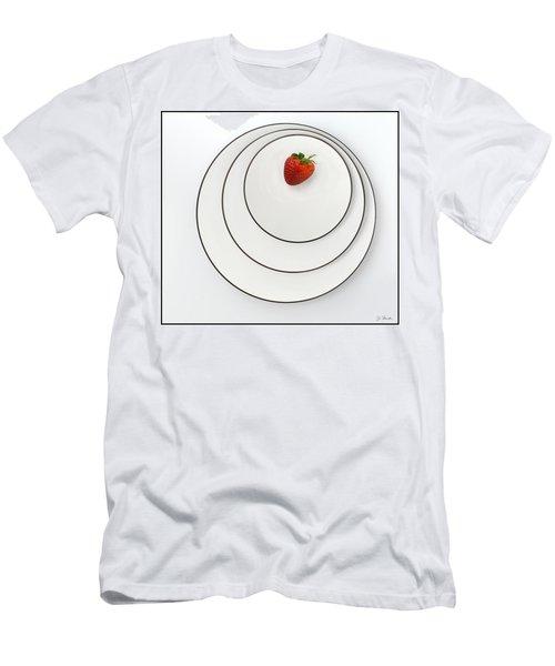 Nonconcentric Strawberry No. 2 Men's T-Shirt (Slim Fit) by Joe Bonita