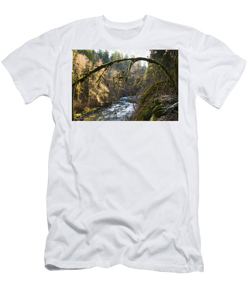 Men's T-Shirt (Athletic Fit) featuring the photograph Nooksack River by Yulia Kazansky