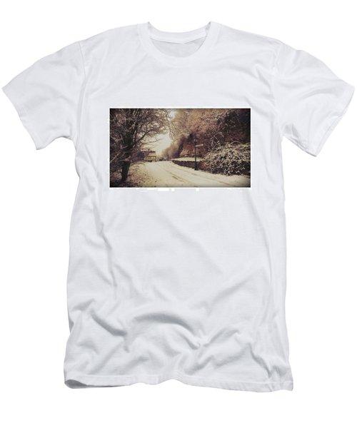 #nordhausen #snow #somedaysago #trees Men's T-Shirt (Athletic Fit)