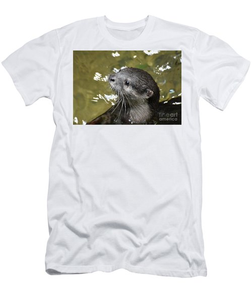 North American River Otter Swimming In A River Men's T-Shirt (Athletic Fit)