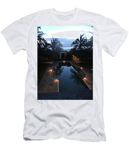 North - Eastern African Home - Sundown Over The Swimming Pool Men's T-Shirt (Athletic Fit)