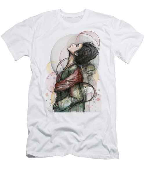 Beautiful Lady Men's T-Shirt (Athletic Fit)