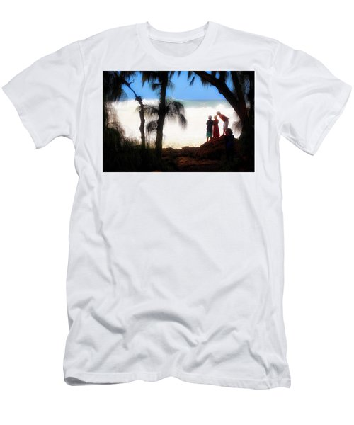 Men's T-Shirt (Slim Fit) featuring the photograph North Shore Wave Spotting by Jim Albritton