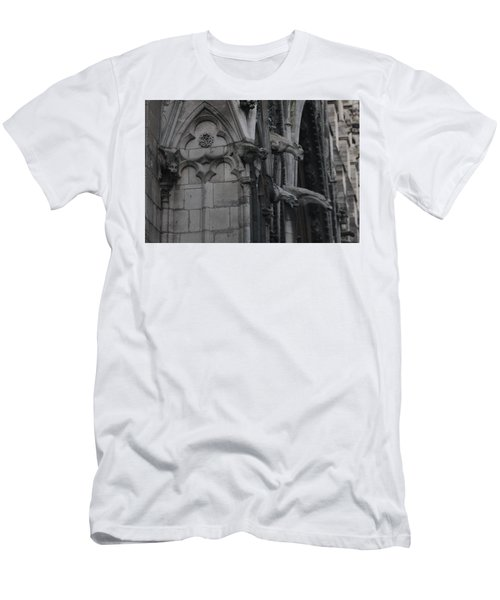 North Side Notre Dame Cathedral Men's T-Shirt (Slim Fit) by Christopher Kirby