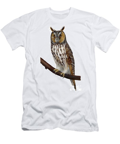 Northern Long-eared Owl Asio Otus - Hibou Moyen-duc - Buho Chico - Hornuggla - Nationalpark Eifel Men's T-Shirt (Athletic Fit)