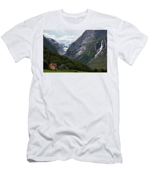 Norway Glacier Jostedalsbreen Men's T-Shirt (Athletic Fit)