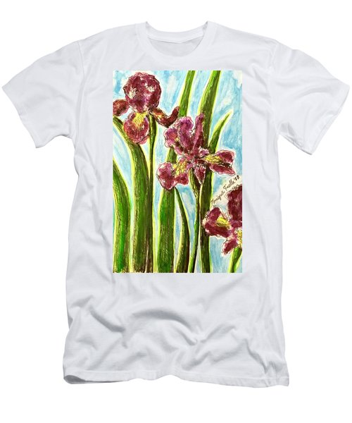 Nostalgic Irises Men's T-Shirt (Athletic Fit)