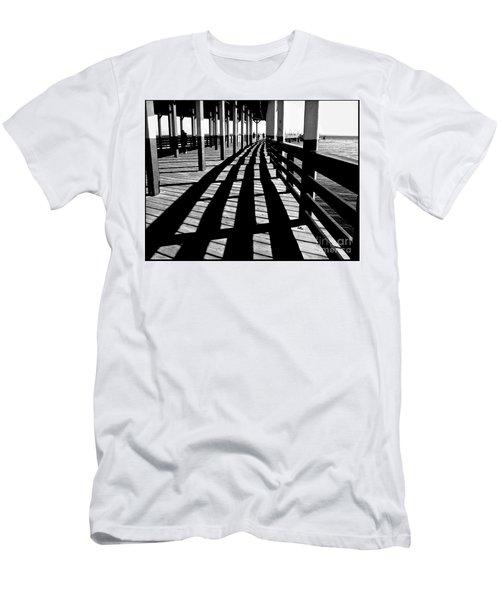 Nostalgic Walk On The Pier Men's T-Shirt (Slim Fit) by Carol F Austin
