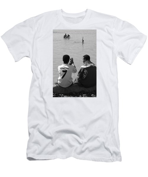 Men's T-Shirt (Slim Fit) featuring the photograph Not Waving But Drowning by Jez C Self