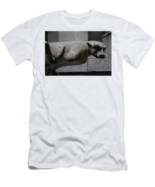 Notre Dame Bat Gargoyle Men's T-Shirt (Slim Fit) by Christopher Kirby