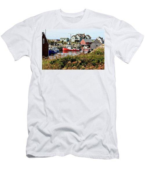 Men's T-Shirt (Slim Fit) featuring the photograph Nova Scotia Fishing Community by Jerry Battle